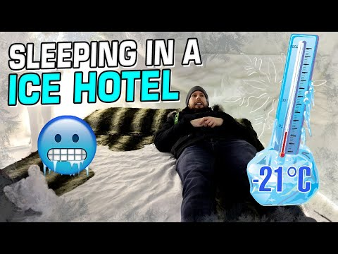 so I slept inside an Ice Hotel Suite...
