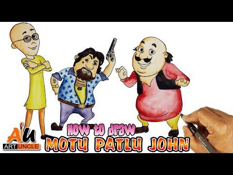 How To Draw Motu Patlu Carton Step By Step Easy Draw John