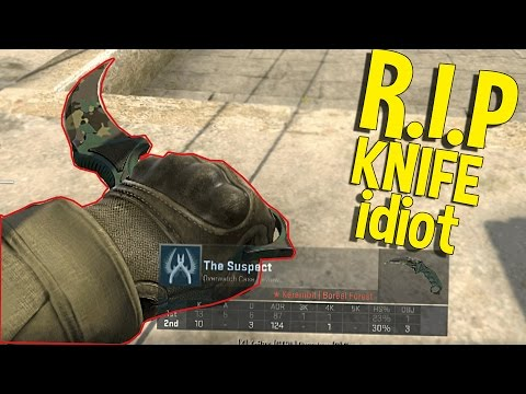 CS:GO HACKING WITH AN EXPENSIVE KNIFE REALLY?? (FUNNY MOMENTS)