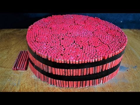 EXPERIMENT 10000 FIRECRACKERS SHOTS AT ONCE (UNBELIEVABLE)