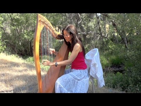 Simple Gifts on Celtic Harp in the woods