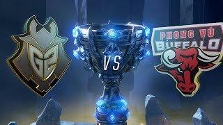 G2 vs PVB   Worlds Group Stage Day 6   G2 Esports vs Phong Vũ Buffalo (2018)
