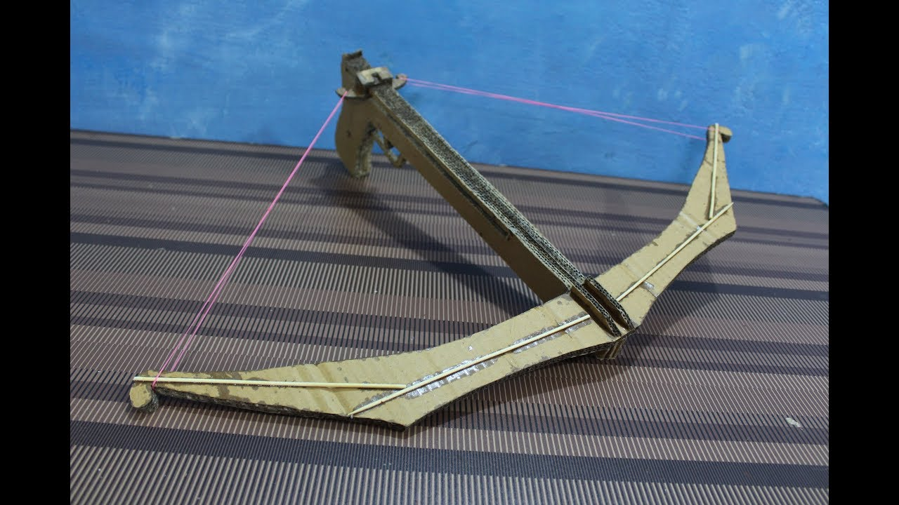 how to make a crossbow out of cardboard