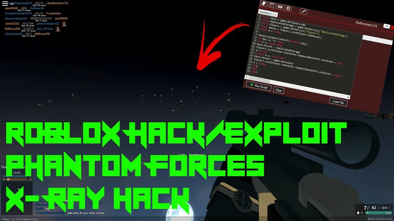 Roblox Phantom Forces Hack Exploit X Ray Patched Youtube