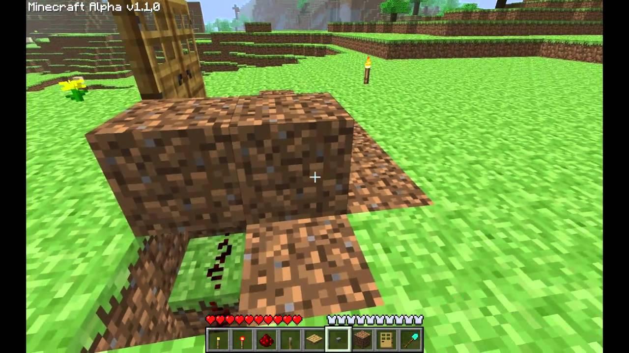 Minecraft Double Door Tutorial Hidden Wiring Youtube Redstone For Dummies