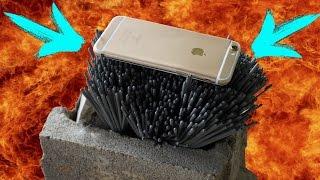 ЖЕСТЬ ! iPhone 6s VS. 1000 БЕНГАЛЬСКИХ ОГНЕЙ !? РАСПЛАВИТ ИЛИ НЕТ ?! ?