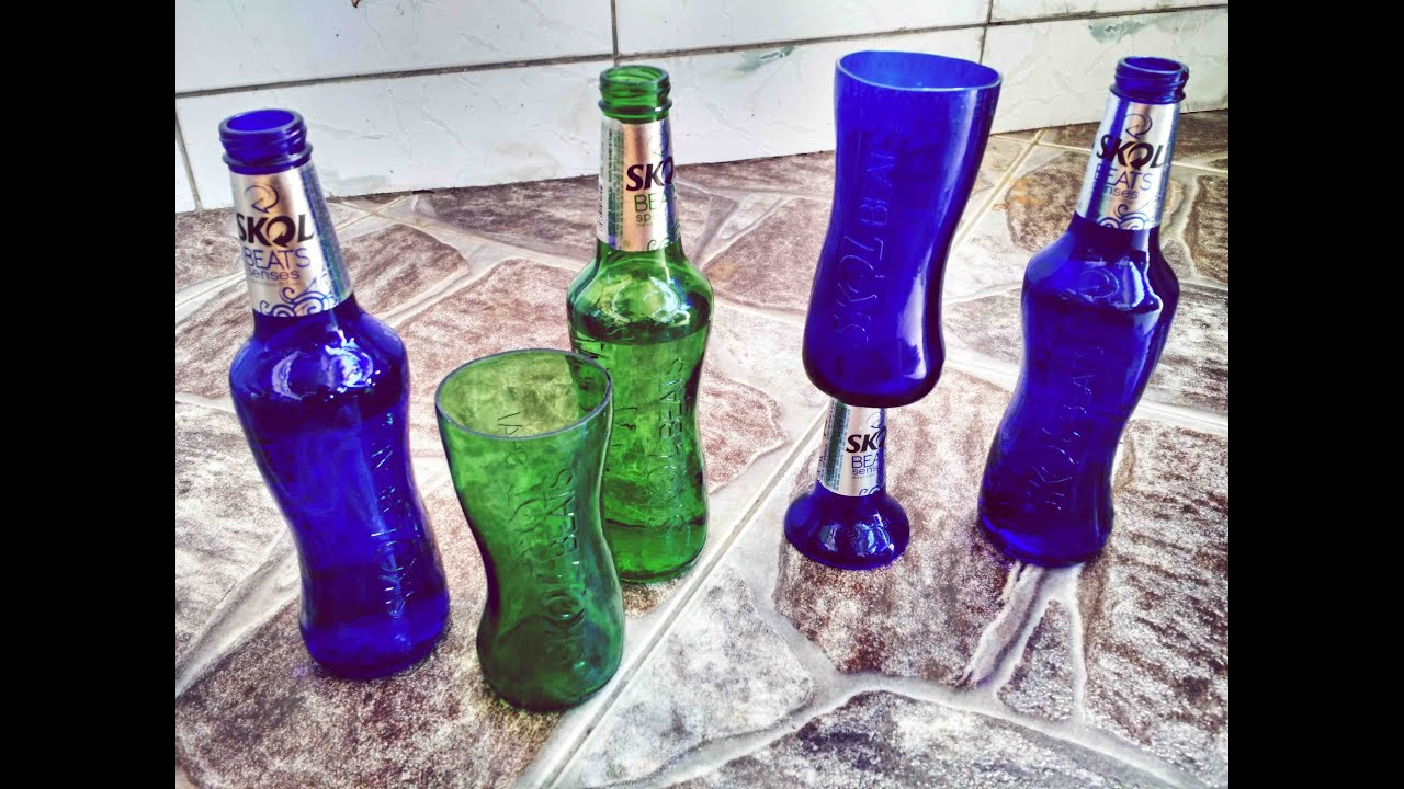 Aprenda a fazer copos com garrafa de Skol beats - YouTube