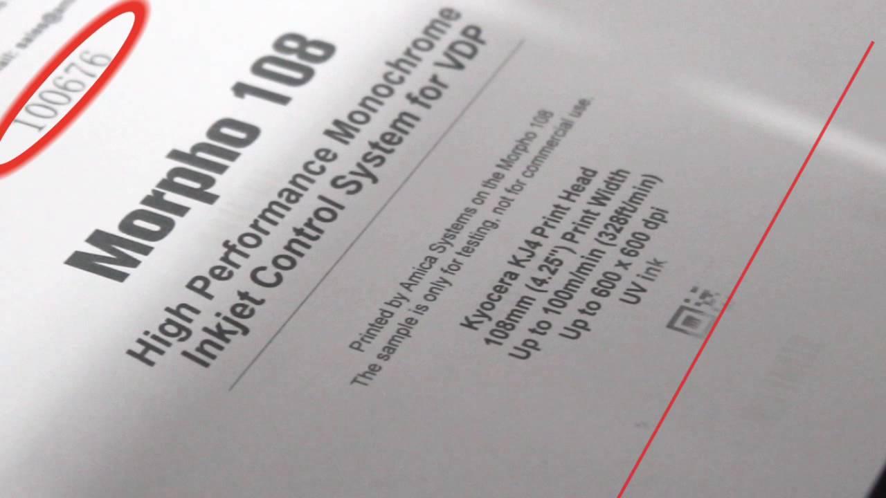 Amica Morpho Inkjet Printer | Amica Systems