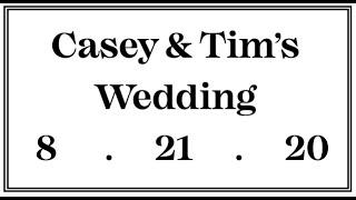 Casey & Tim's Wedding Trailer