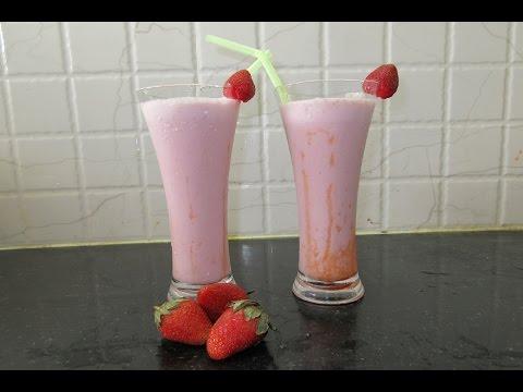 Ways to make strawberry milkshake