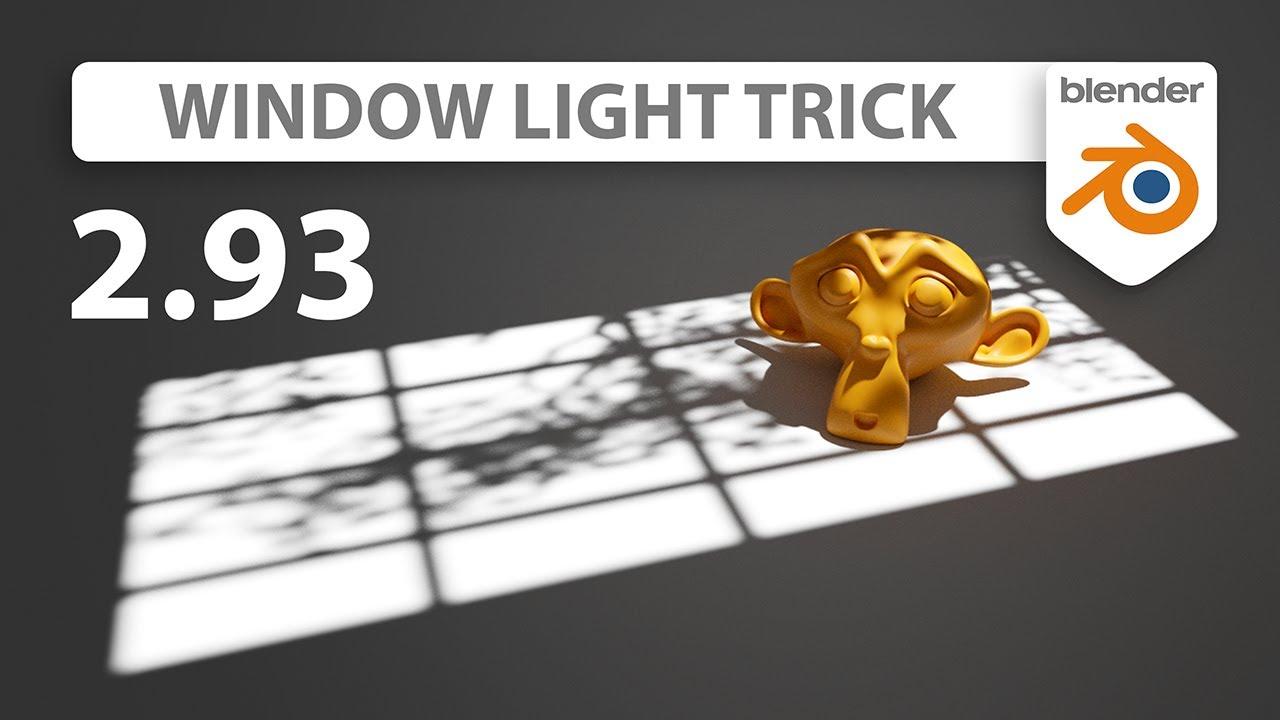 Window Light Trick in Blender 2.93 | New Area Light Feature