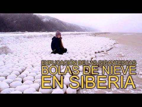 Explicación de las gigantescas bolas de nieve en Siberia