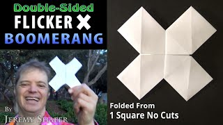 Double-Sided Flicker X Boomerang - Origami