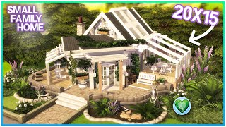 I tackled a 20x15 lot! 😱 Small Family Home [No CC ]- Sims 4 Speed Build   Kate Emerald