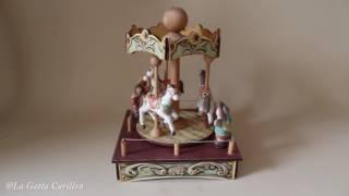 Carillon giostra Cavalli per bambini e adulti (Melodia: Sinfonia n°9 - Beethoven)