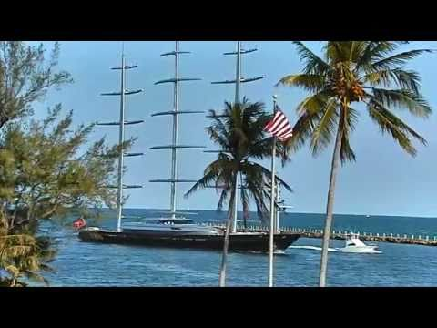 Megayacht Maltese Falcon Arriving at Port Everglades - 5/18/2011
