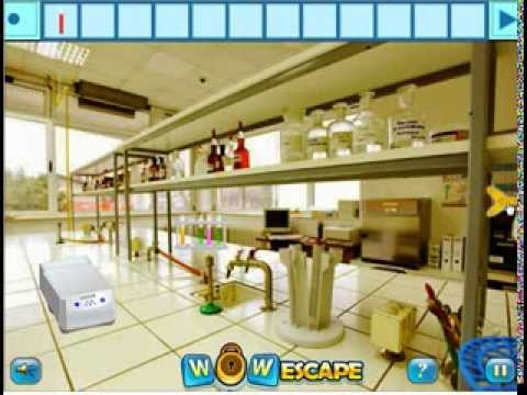 Wow lab room escape walkthrough video youtube for Escape room equipment