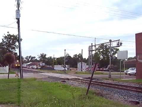 Union Pacific Freight Train in Town