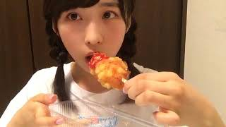 三つ編み&チーズホットドック配信 2018年03月28日小栗 有以(AKB48 チーム8)SHOWROOM 小栗有以 検索動画 24