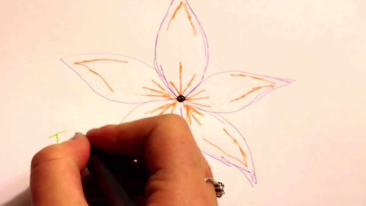 How to draw a simple yet beautiful flower YouTube