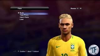 New Face y Hair Rubio •Neymar Jr• 2016/2017 | Pes 2013