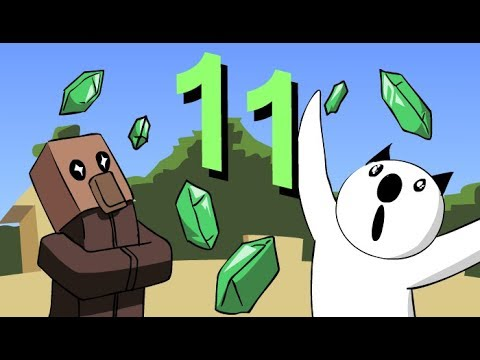 "Minecraft for noobs (Cartoon) part 11 ""Trading with villagers"""