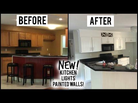 V: NEW KITCHEN LIGHTS CROWN MOLDING House Update