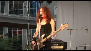 Melissa Auf der Maur @ Dundas Square performing Lightning is My Girl