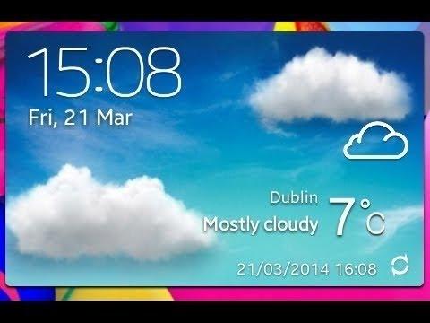 Widget De Clima Estilo Samsung Galaxy S4 Touchwiz Galaxy