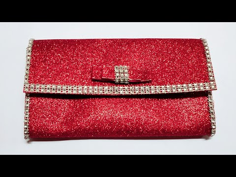 Beautiful Glitter Foam Sheet Clutch Wallet   Craft Nifty Creations
