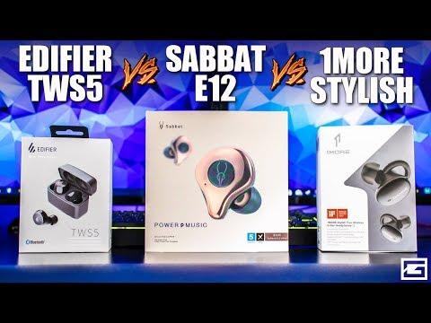 True Wireless Showdown! : Sabbat E12 Ultra VS 1More Stylish VS Edifier TWS5 Video