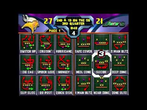 NFL Blitz 2000 New York Jets vs Minnesota Vikings