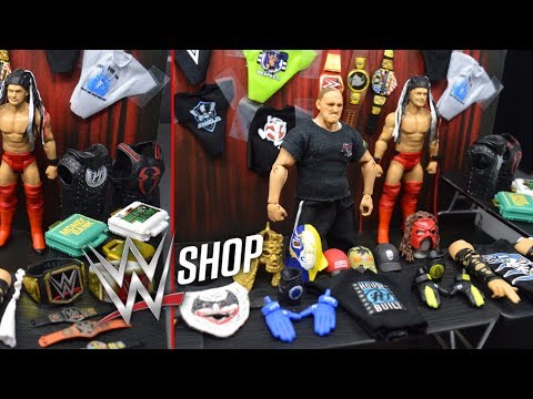 WWE ACTION FIGURE MERCHANDISE STAND! WWE SHOP!