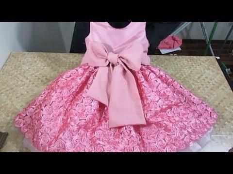 طريقة تفصيل فستان اطفال سواريه للمبتدئين خطوه بخطوه