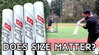 32 vs 33 vs 34 - BBCOR Baseball Bat Test with the Marucci Cat8
