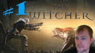Ведьмак 1 (The Witcher) #1 - Сумасшедшее начало! (наивысшая сложность, прохождение, обзор)