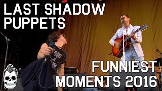 the last shadow puppets funniest moments 2016   miles kane   alex turner