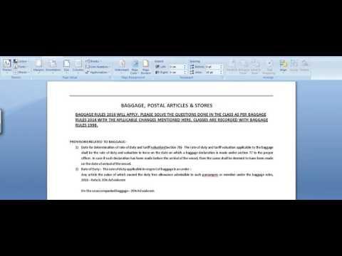 Idt amendments(4) baggage rules 2016