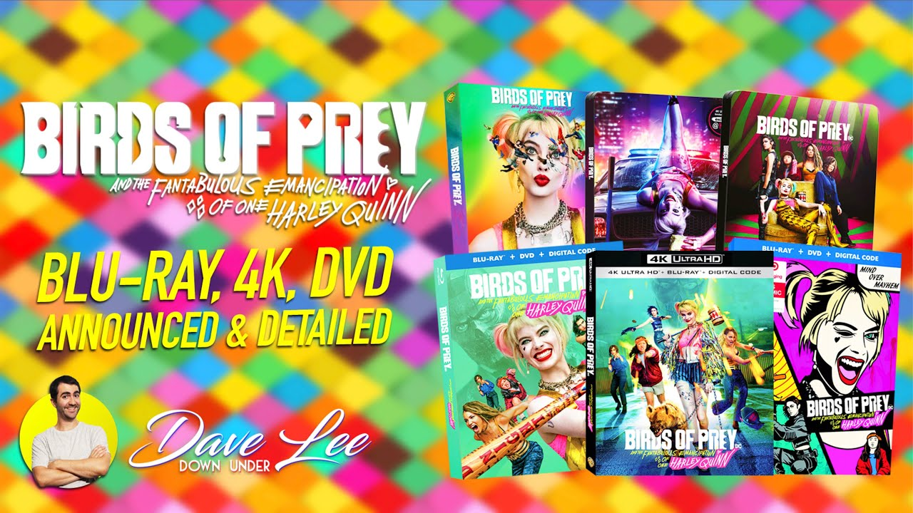 Birds Of Prey Blu Ray 4k Dvd Announced Detailed Youtube