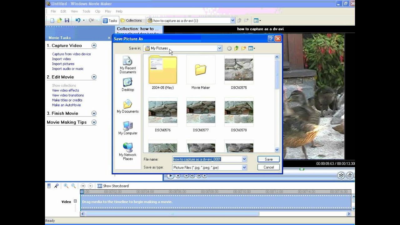 How to Frame Grab in Movie Maker.wmv - YouTube