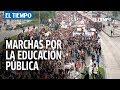 Así comenzaron las marchas por la reforma en la educación pública en Octubre| EL TIEMPO