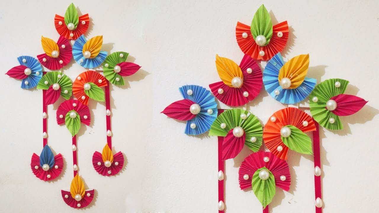 Paper Wall Hanging Craft Idea At Home Paper Craft Ideas For
