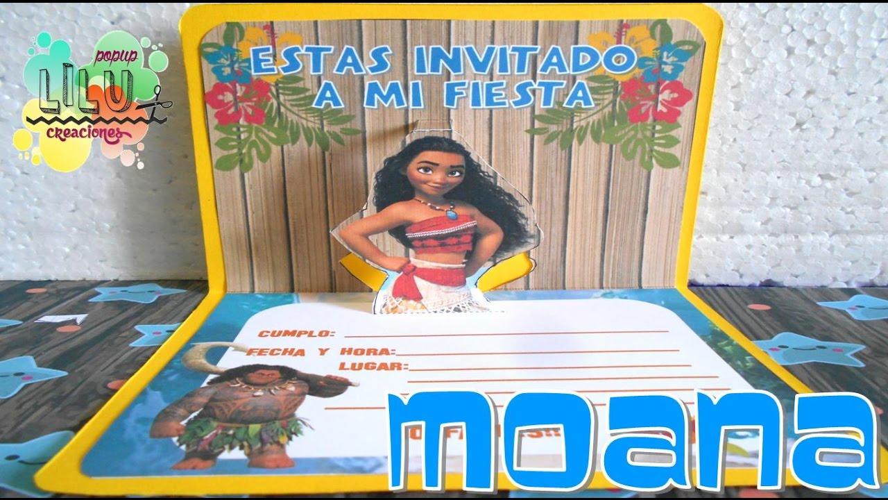 Invitación Moana