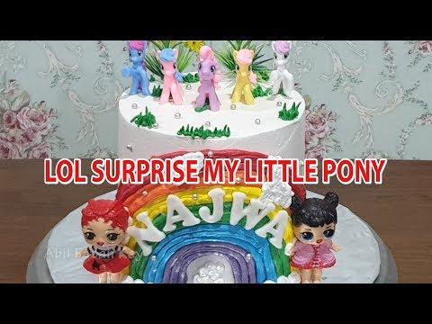 Lol Surprise Cake Kue Ulang Tahun Lol Surprise Kuda Poni