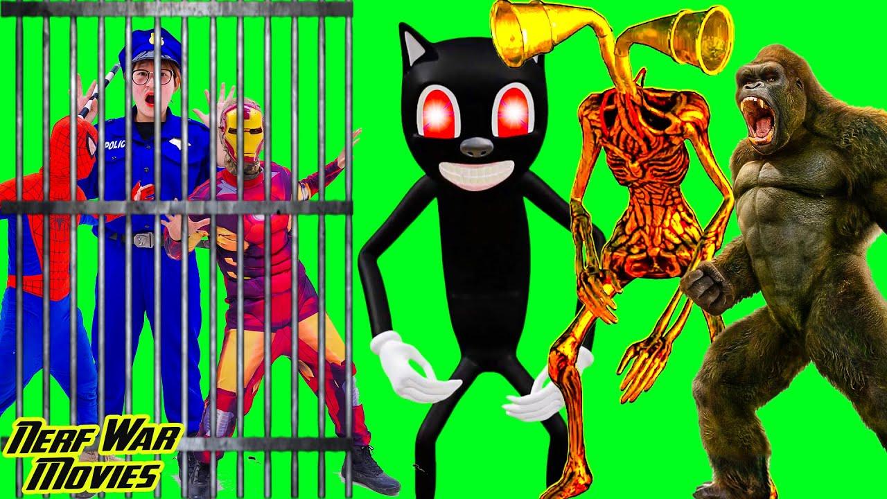 Nerf War Movies: Spiderman X Warriors Nerf Guns Fight Criminal Group Battle with Monster