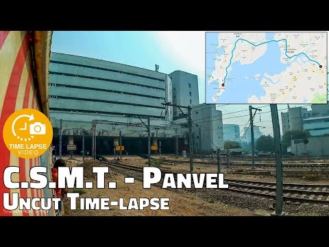 Mumbai Local Time-lapse - CSMT to Panvel Uncut Journey | 0.5 Sec Time lapse