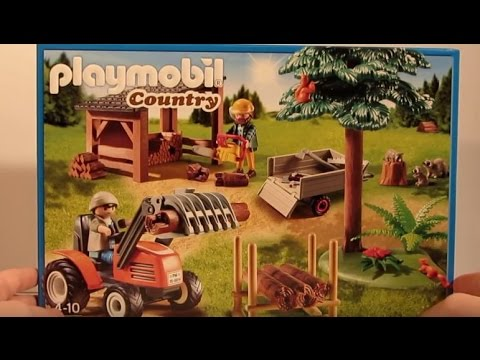 Playmobil film deutsch country holzfäller mit traktor