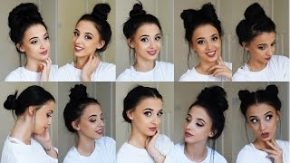 10 Easy BUN Hairstyles! **TUMBLR inspired!**