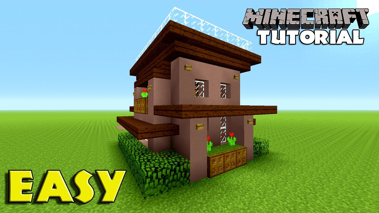 Minecraft how to build a survival house tutorial simple easy small minecraft house tutorial youtube