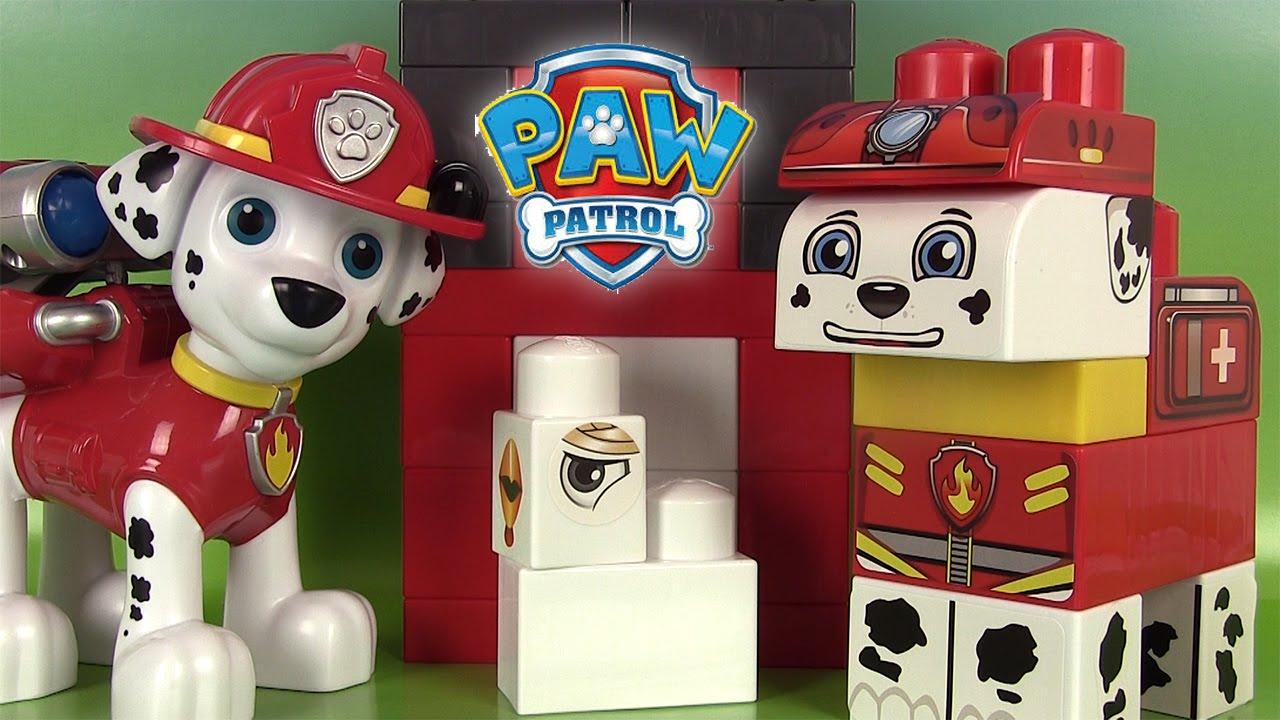 pat patrouille jeu de construction marcus la rescousse paw patrol rescue marshall blocks set youtube - Jeux De Maison A Construire Et A Decorer